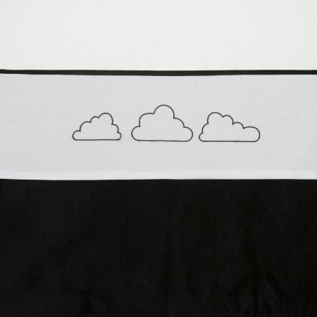 Meyco Laken Little Clouds Zwart <br> 100 x 150 cm
