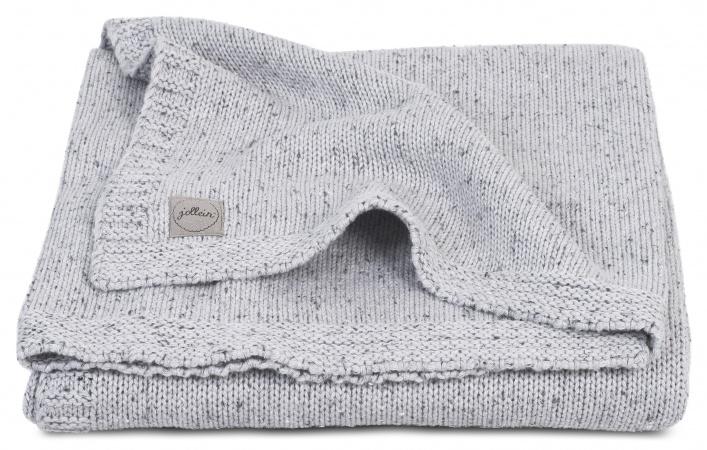 Deken Zomer Confetti Knit Grey 100 x 150 cm