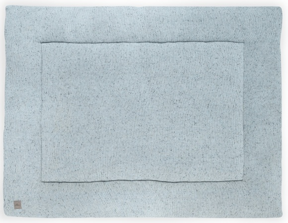 Jollein Boxkleed Confetti Knit Stone Green<br> 80 x 100 cm