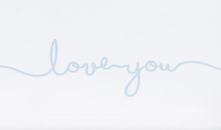 Jollein Laken Love You Soft Blue 120 x 150 cm