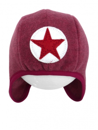 Kik Kid Muts Star Fleece Dark Pink