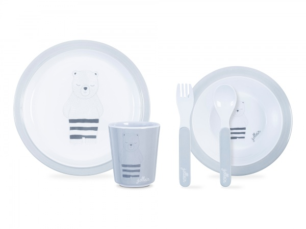 Jollein Dinerset Wild Animals Grey