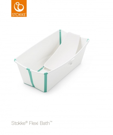 Stokke® Flexi Bath™ Bundel White Aqua  (Inclusief Newborn Support)