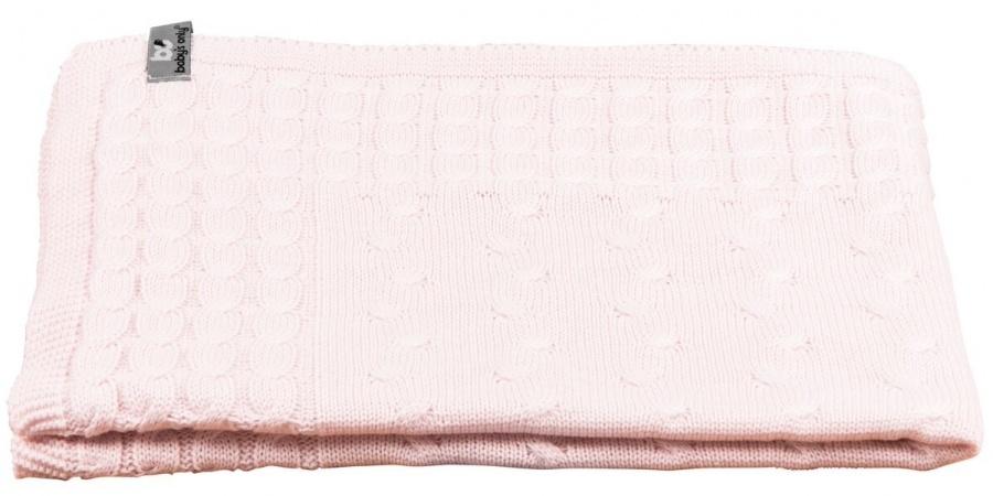 Baby's Only Ledikantdeken Kabel Classic Roze 100 x 135 cm