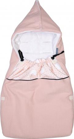 Petit Juul Voetenzak Maxi Cosi Pink Dot/ Pink Wafel