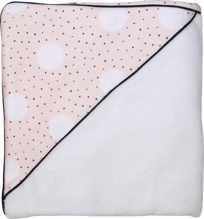 Petit Juul Wikkeldeken Pink Dot/ Cream Teddy