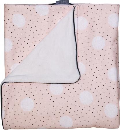 Petit Juul Wiegdeken Pink Dot/ Cream Teddy<br> 75 x 100 cm
