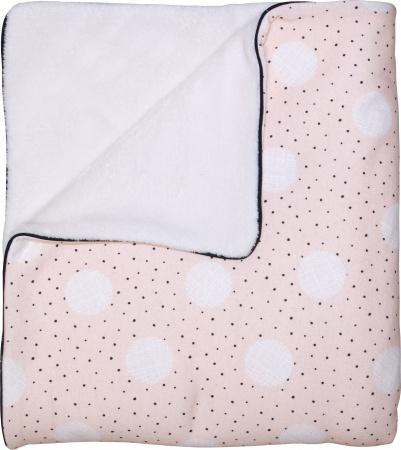 Petit Juul Ledikantdeken Pink Dot/ Cream Teddy<br> 100 x 140 cm