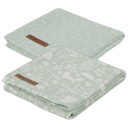 Little Dutch Swaddle 2Stuks Adventure Mint <br> 70x70
