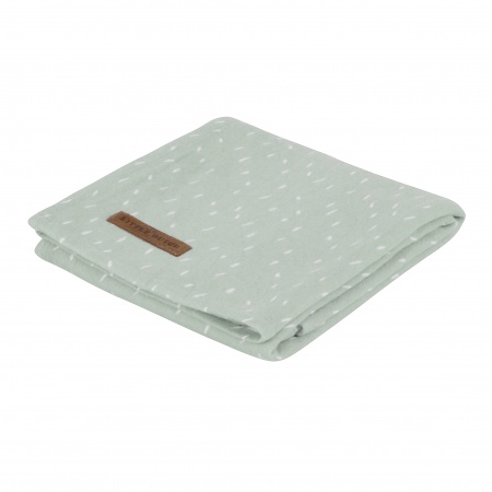 Little Dutch Swaddle Sprinkles Mint <br> 120 x 120