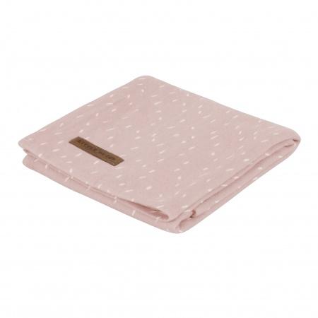 Little Dutch Swaddle Sprinkles Pink <br> 120 x 120
