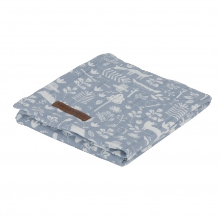 Little Dutch Swaddle Adventure Blue <br> 120 x 120