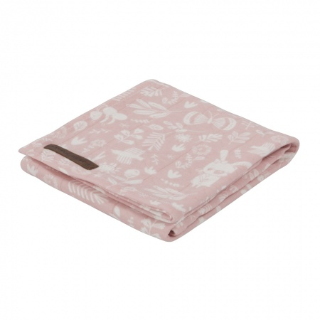 Little Dutch Swaddle Adventure Pink <br> 120 x 120