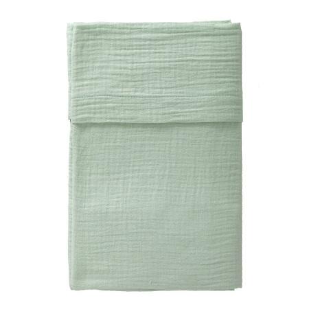 Cottonbaby Wieglaken Soft Mint <Br> 75 x 90 cm