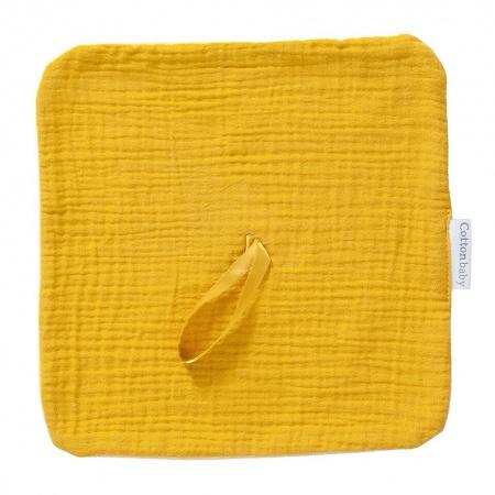 Cottonbaby Speendoekje Soft Okergeel
