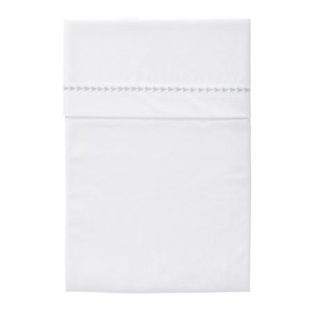 Cottonbaby Ledikantlaken Driehoekjes Grijs<br/ > 120 x 150 cm