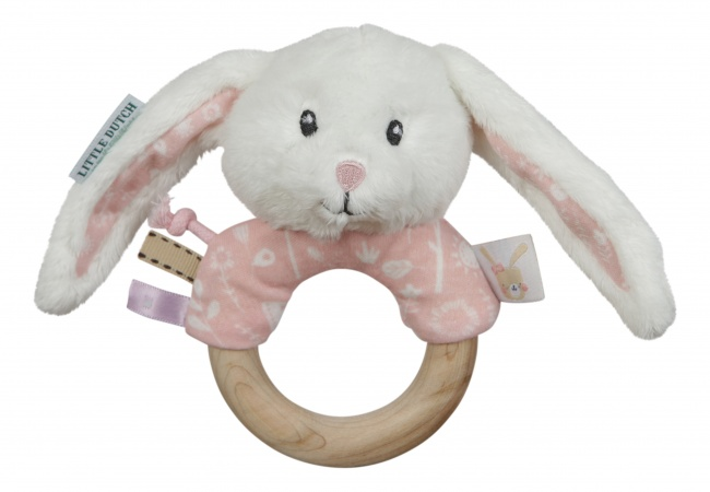 Little Dutch Rammelaar Met Houten Ring Roze