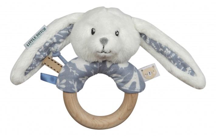 Little Dutch Rammelaar Met Houten Ring Blauw