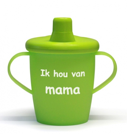 KiddyBoo Anti-Lekbeker I Love Mama Lime