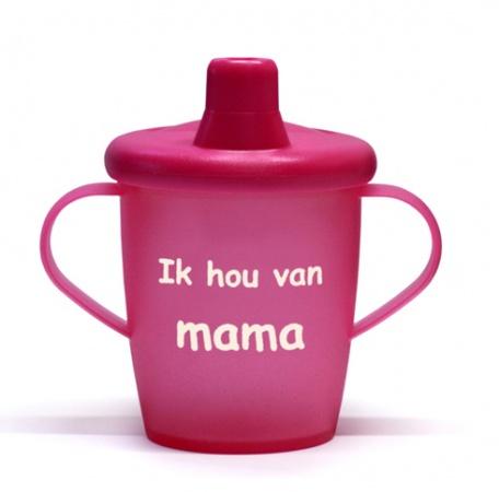 KiddyBoo Anti-Lekbeker I Love Mama Fuchsia