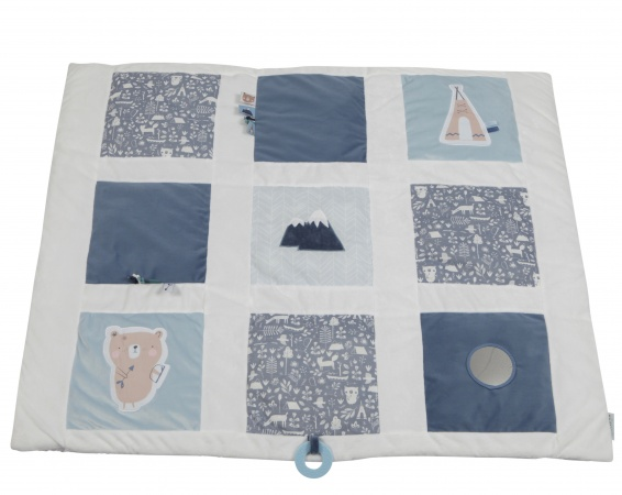 Little Dutch Boxkleed Adventure Blue 9-Vlaks<br> 85 x 100 cm