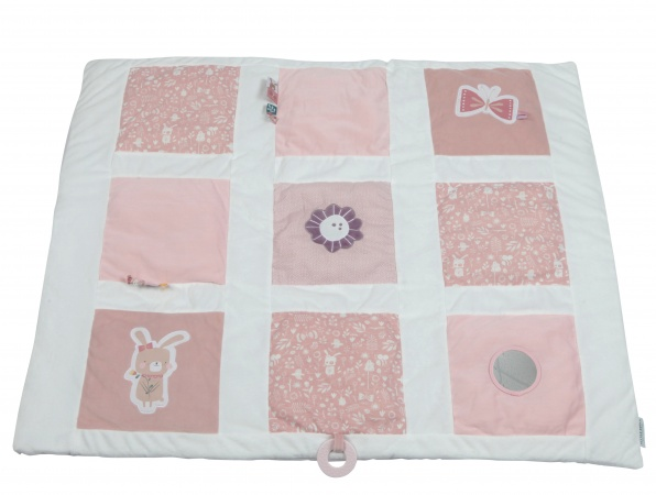 Little Dutch Boxkleed Adventure Pink 9-Vlaks<br> 85 x 100 cm