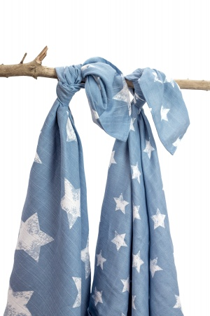 Briljant Swaddle Robin Silverblue/Wit 2 Stuks