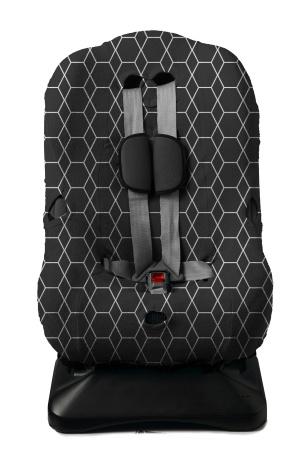 Autostoelhoes Grid Zwart/Wit 1+