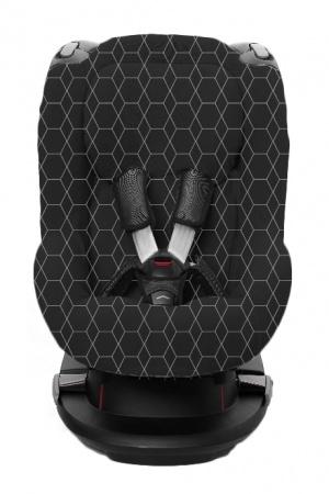 Autostoelhoes Grid Zwart/Wit 1+ Met Rugsteun