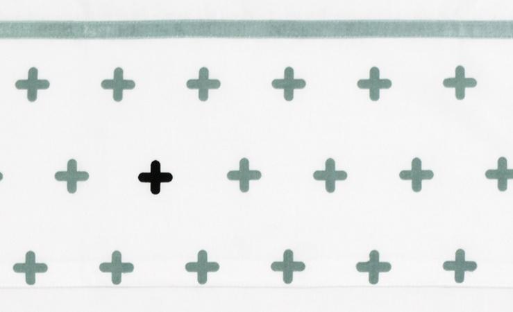 Briljant Laken Crizzzcrozzz Stonegreen<br> 75 x 100 cm