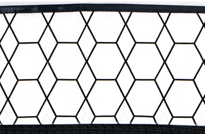 Briljant Laken Grid Black/White<br> 100 x 150 cm