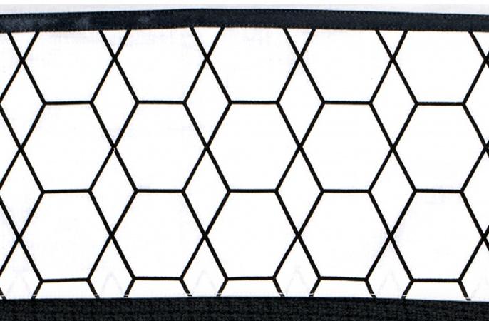 Briljant Laken Grid Black/White<br> 100 x 150 cm