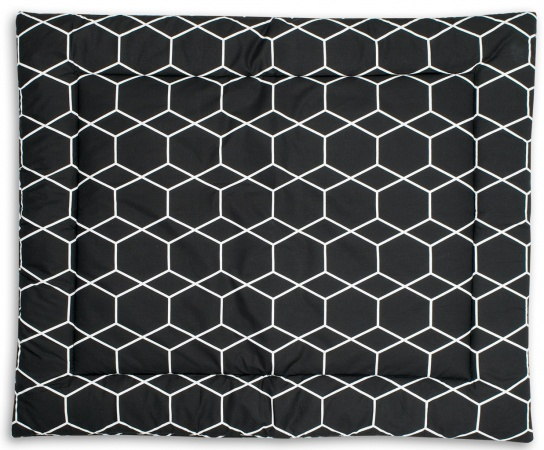 Briljant Boxkleed Grid Black/White<br> 80 x 100