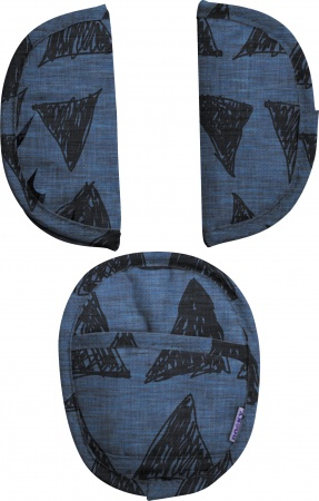 Dooky Universele Pads Blue Tribal