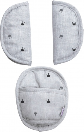 Dooky Universele Pads Light Grey Crowns