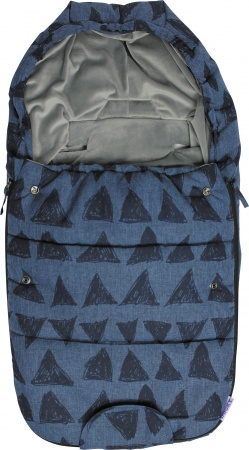 Dooky Voetenzak Small Blue Tribal