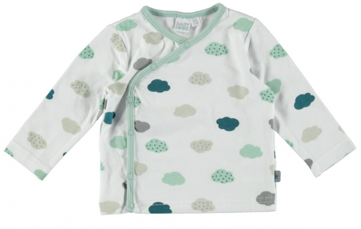 Babylook T-Shirt Overslag Clouds White