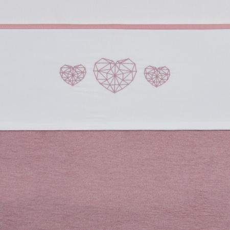 Meyco Laken Geometric Heart Roze<br> 75 x 100 cm