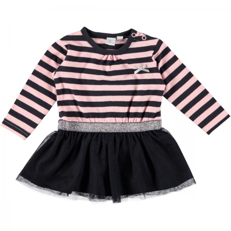Babylook Jurk Stripes Total Eclipse