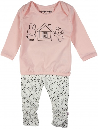 Nijntje/Miffy 2-Delige Set T-Shirt House Pink