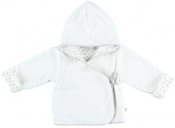 Noukie's Vest Velours Cocon Rase Blanc