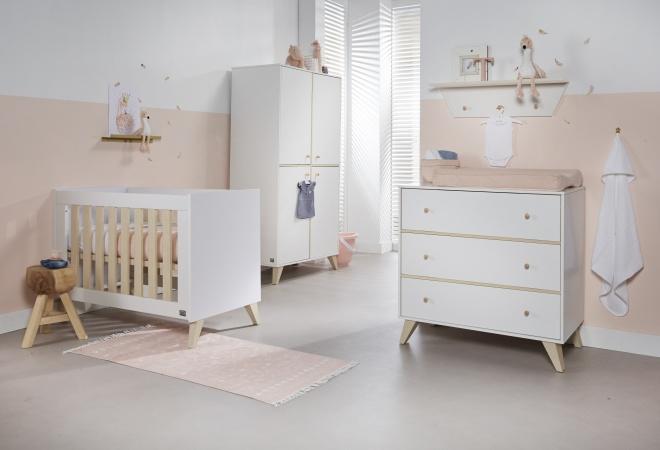 Kinderkamer Baby Dump.Ledikant 60 X 120 Commode Hanglegkast Finn Twf Baby Dump