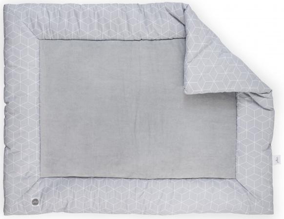 Jollein Boxkleed Graphic grey <br> 80 x 100 cm