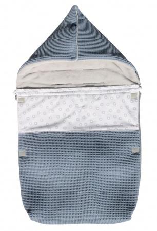 Petit Juul Voetenzak Maxi Cosi Old Blue/Grey Bubble