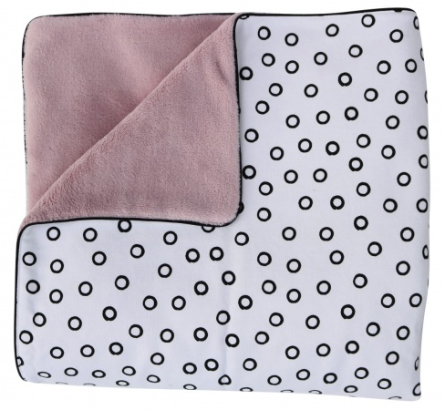 Petit Juul Ledikantdeken Old Pink/Black Bubble<br> 100 x 140 cm