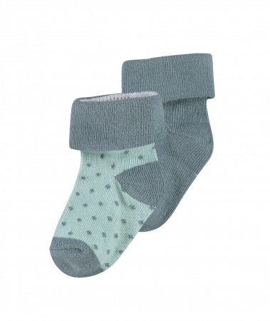 Noppies Sokjes 2-Pack Dot Dark Green