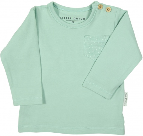 Little Dutch T-Shirt Pocket Mint
