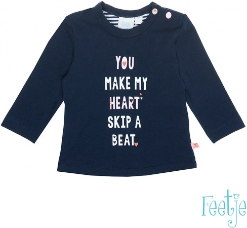 Feetje T-Shirt Heart Beat Marine