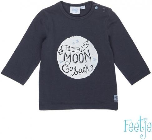 Feetje T-Shirt Moon Antraciet / Blauw