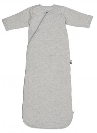 Snoozebaby Sleepsuit Longsleeve Grey Melange Jacquard 3-9mnd
